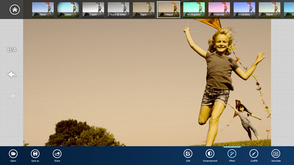 Samsung's S PhotoStudio app has lots of filters for images.