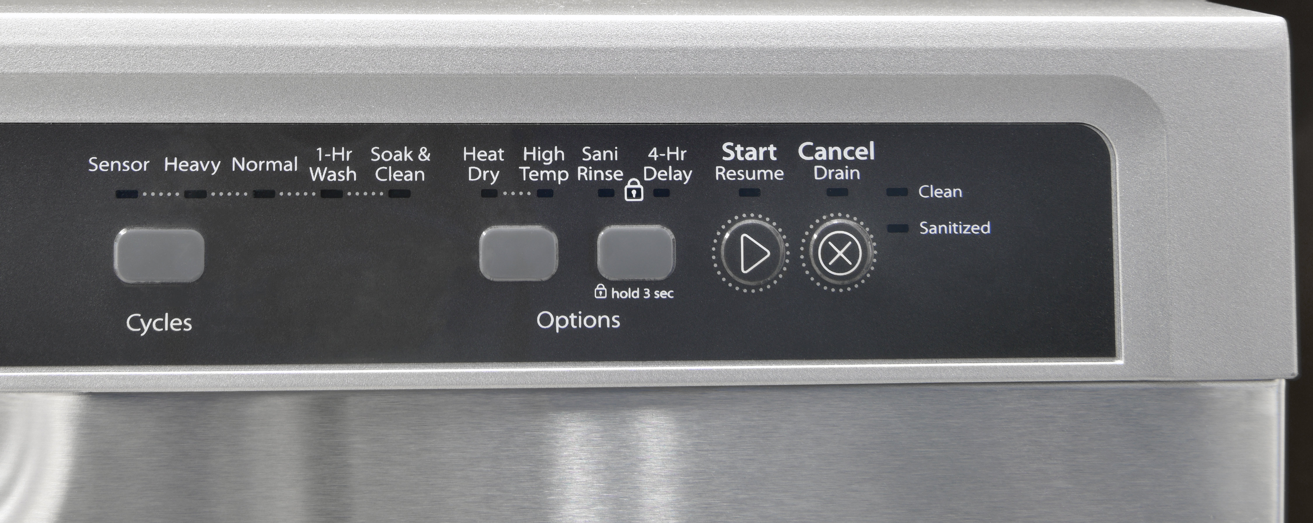 Whirlpool WDF540PADM controls off