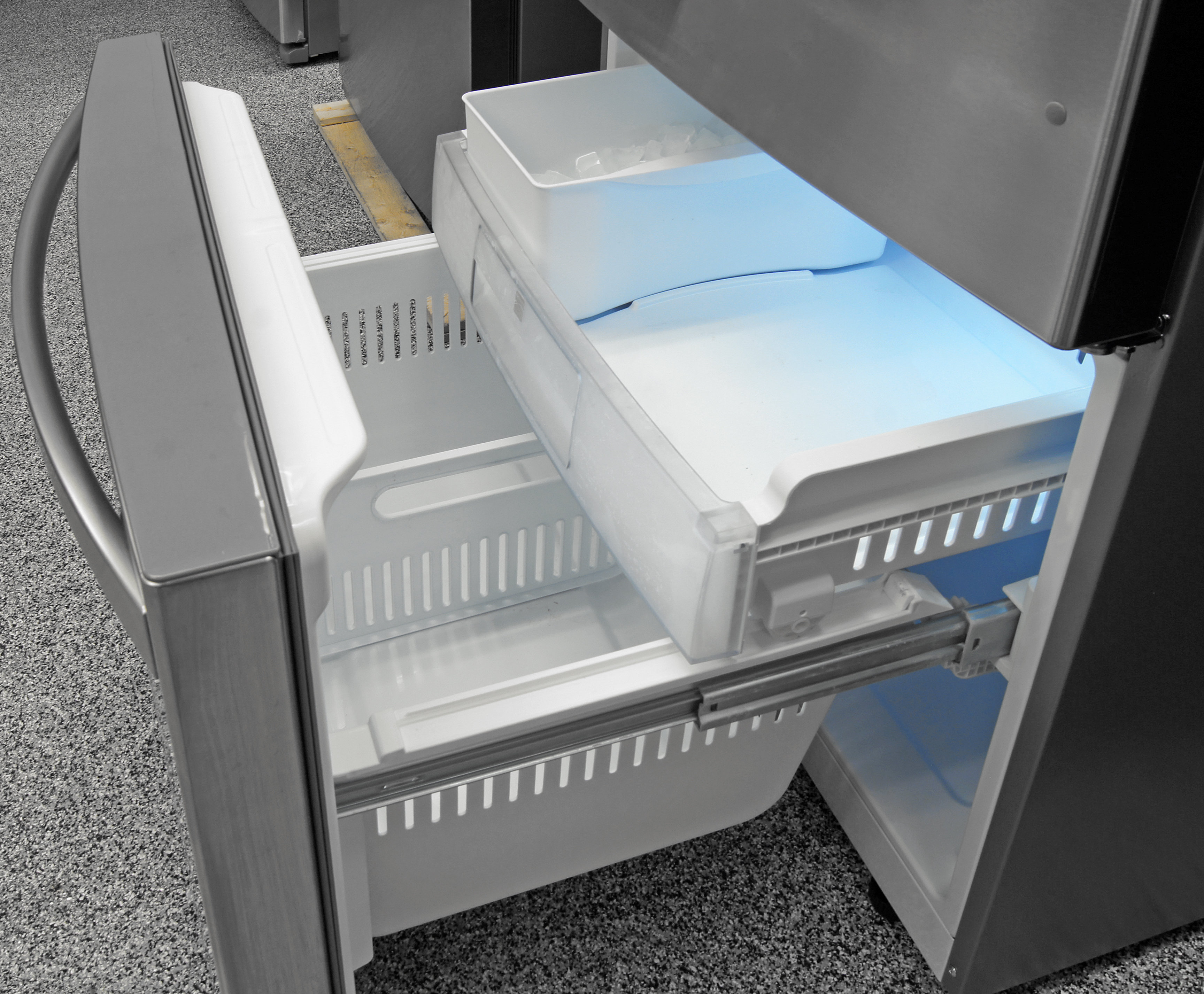 The Kenmore Elite 79043's sliding drawers offer plenty of perfectly chilled freezer storage.