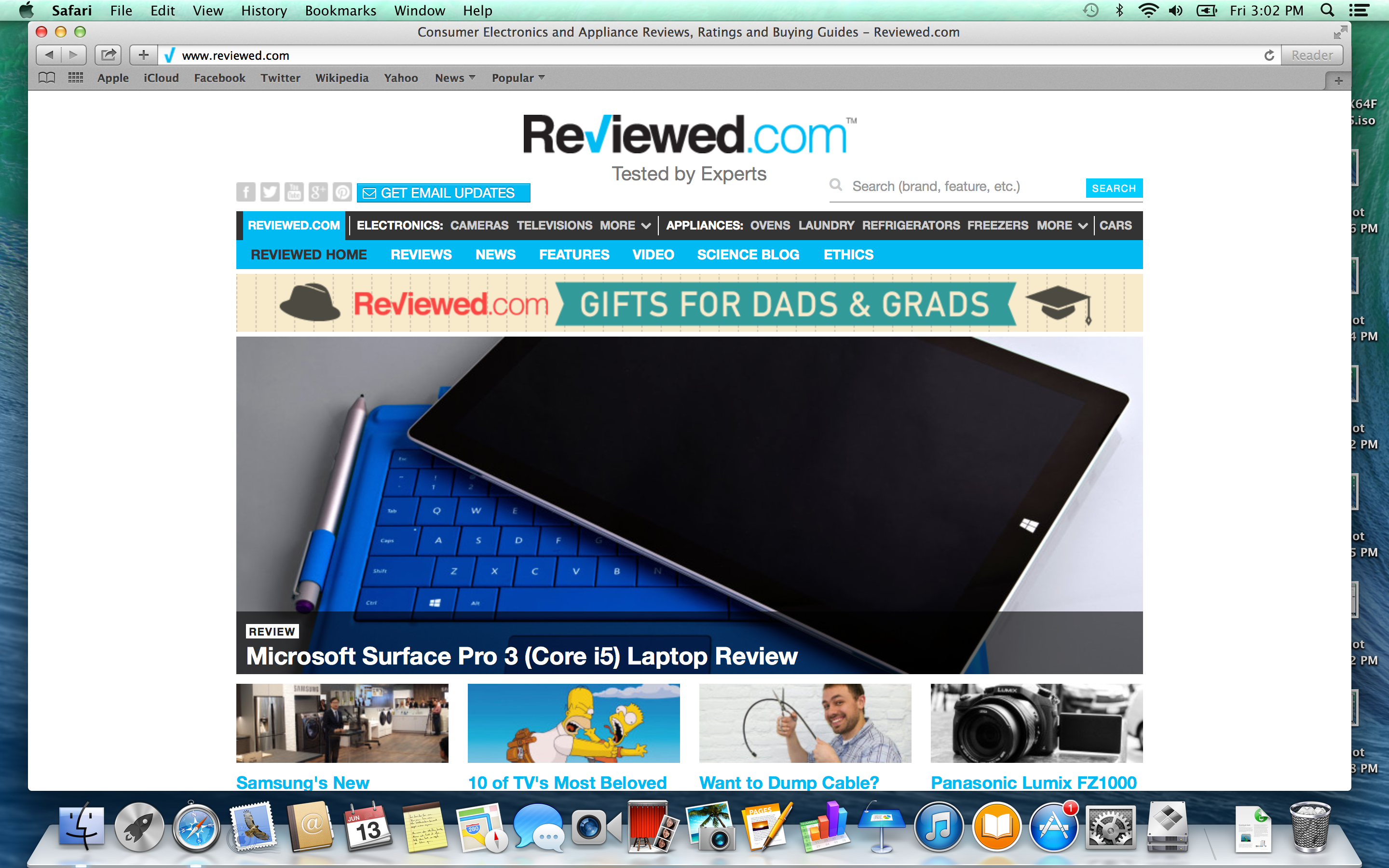 A screenshot of the Apple MacBook Pro with Retina Display's Safari web browser.