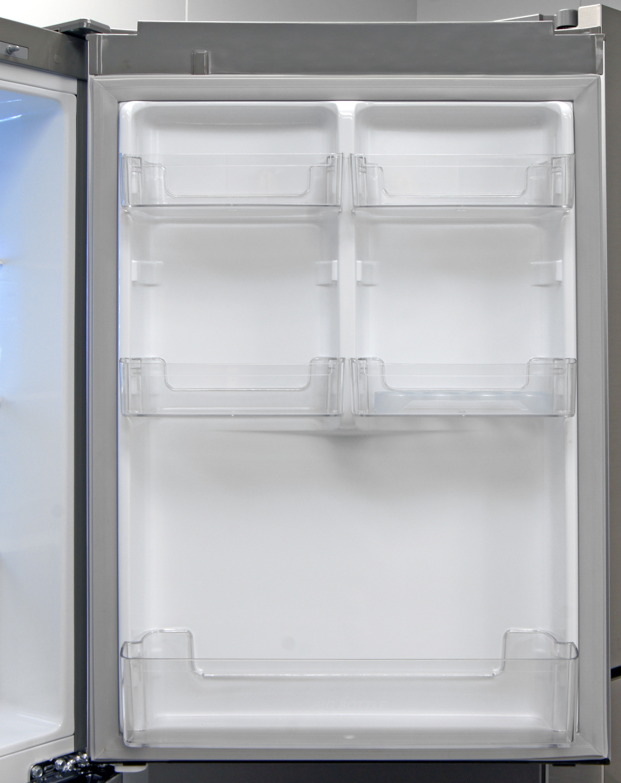 The LG LBN10551PV's fridge door storage is surprisingly flexible for an  apartment-sized model.