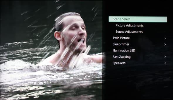 Sony's menu interface