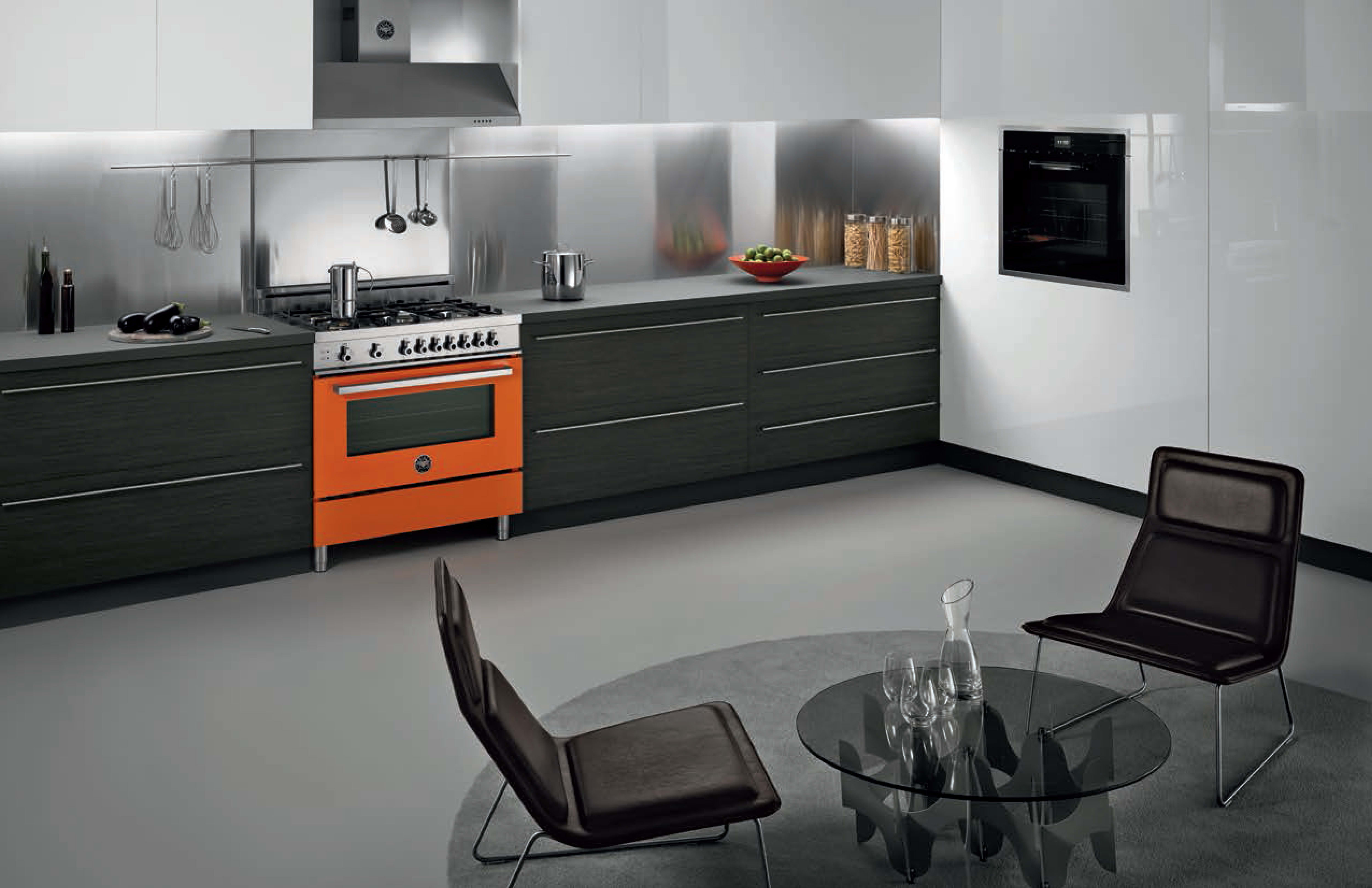 A modern kitchen outfitted with a striking Professional Series range.