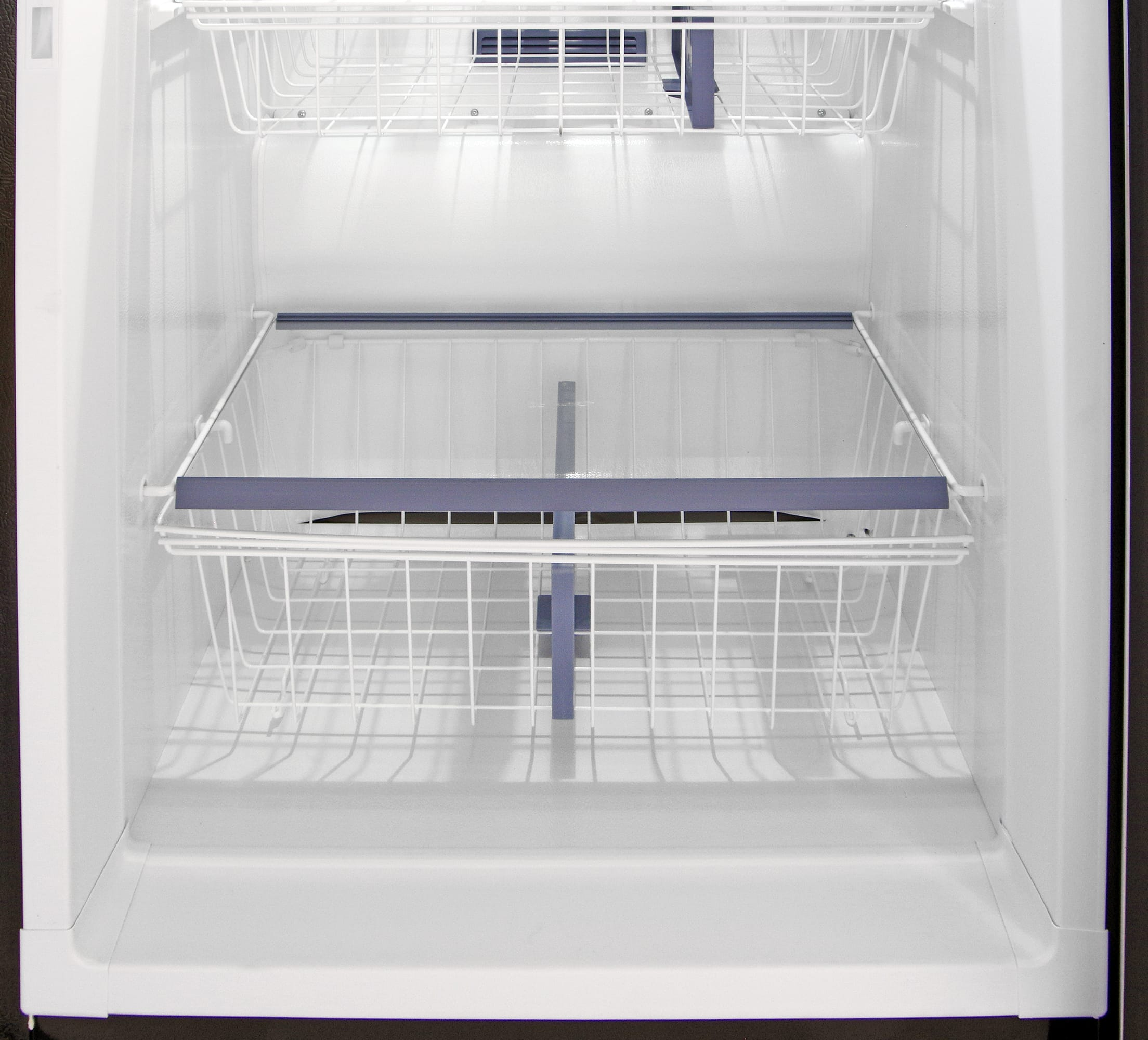 The tall shelf and deep bucket near the bottom of the Kenmore Elite 28093 is great for freezing larger items.