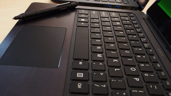 The Flip 13's keyboard is comfortable and spacious, although it feels slightly cheap.