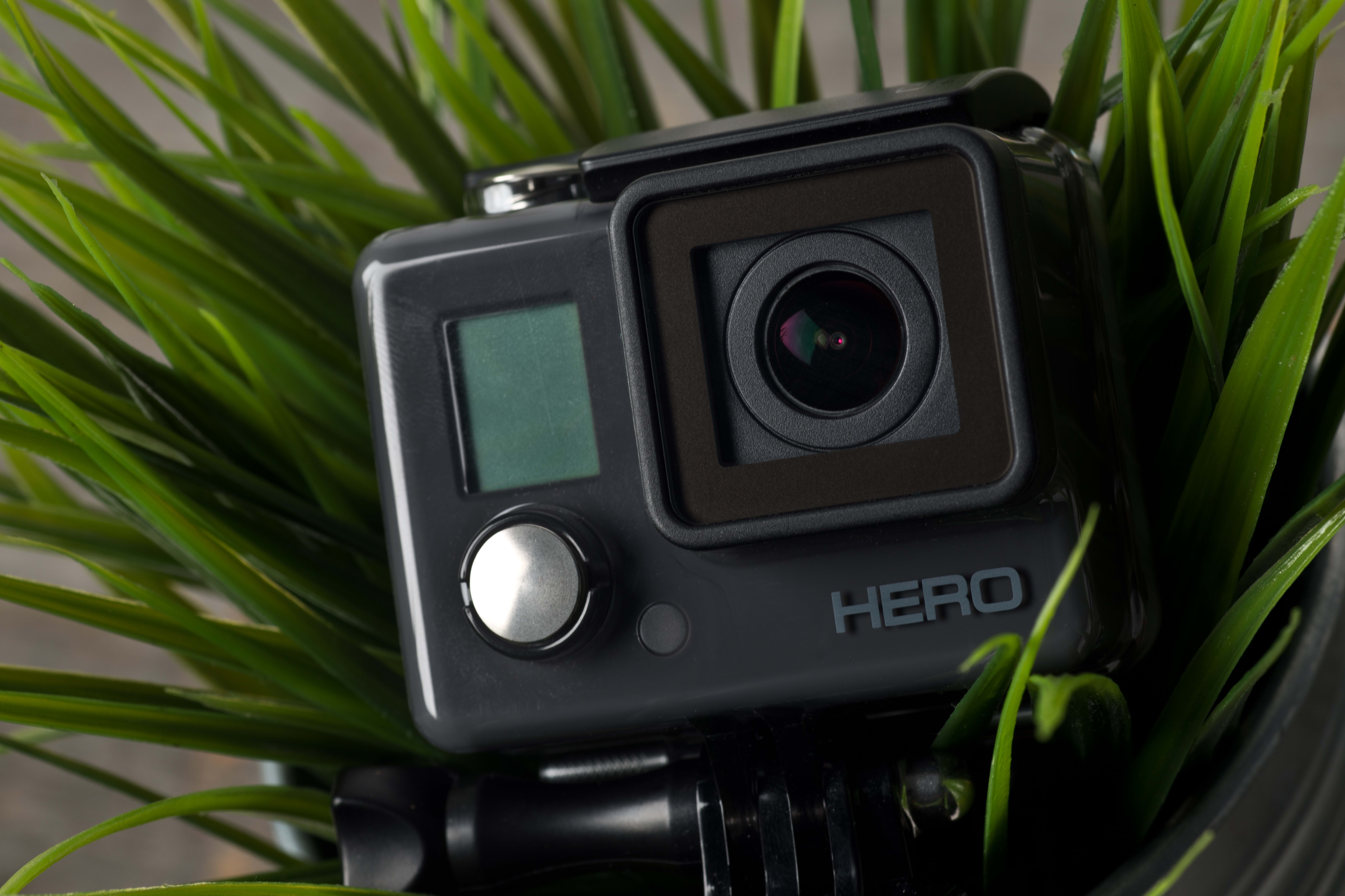 A photograph of the GoPro Hero 2014 edition's lens.