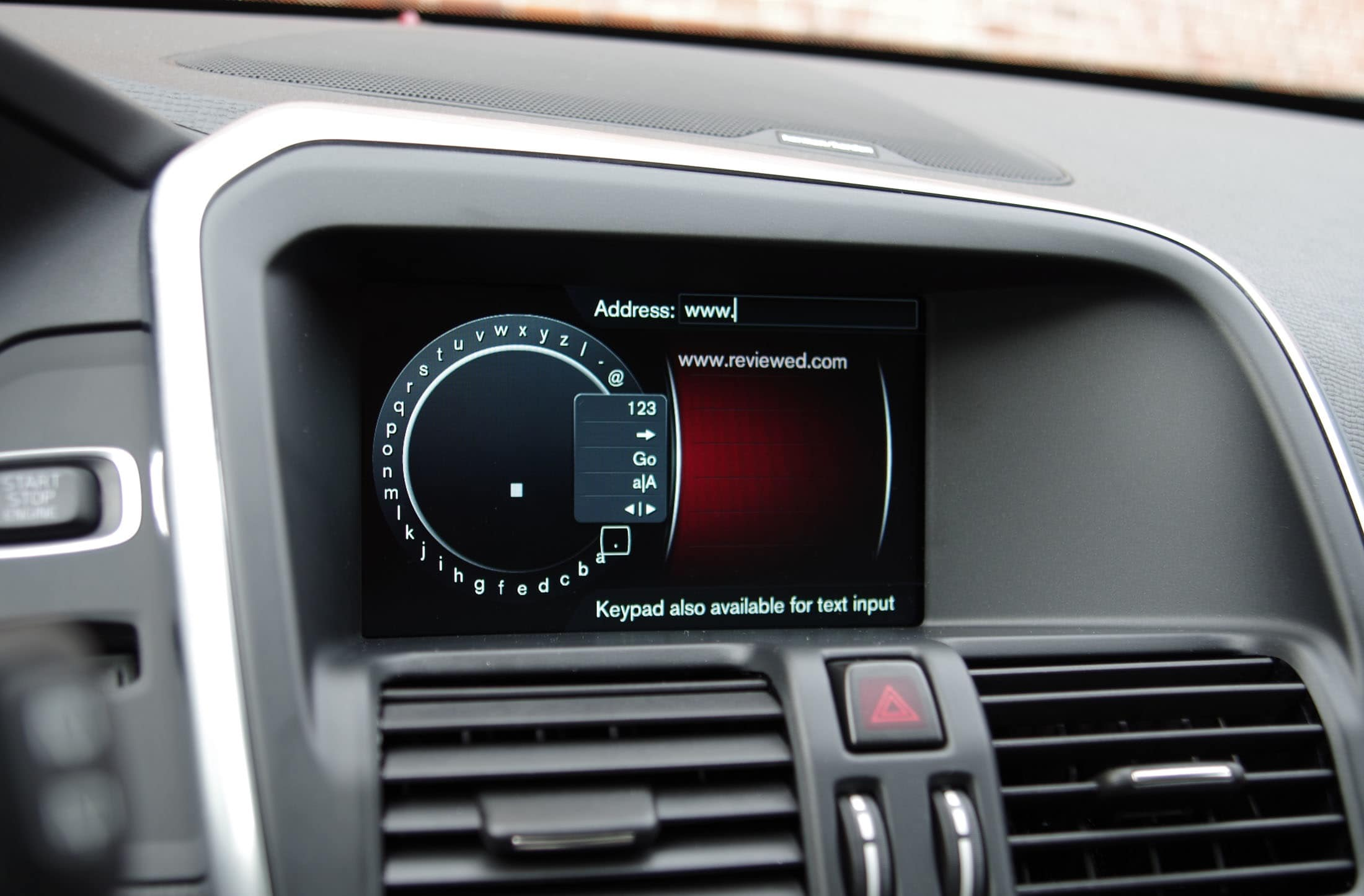 xc60 text entry