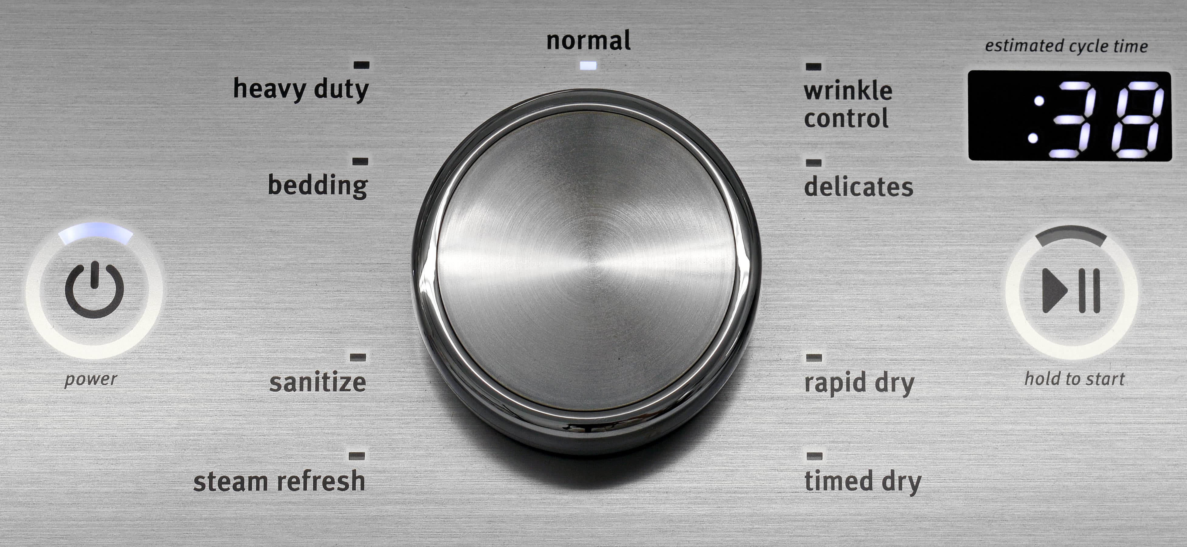 The Maytag Bravos MEDB755DW's ample cycle list lets users choose exactly what they need from their dryer.