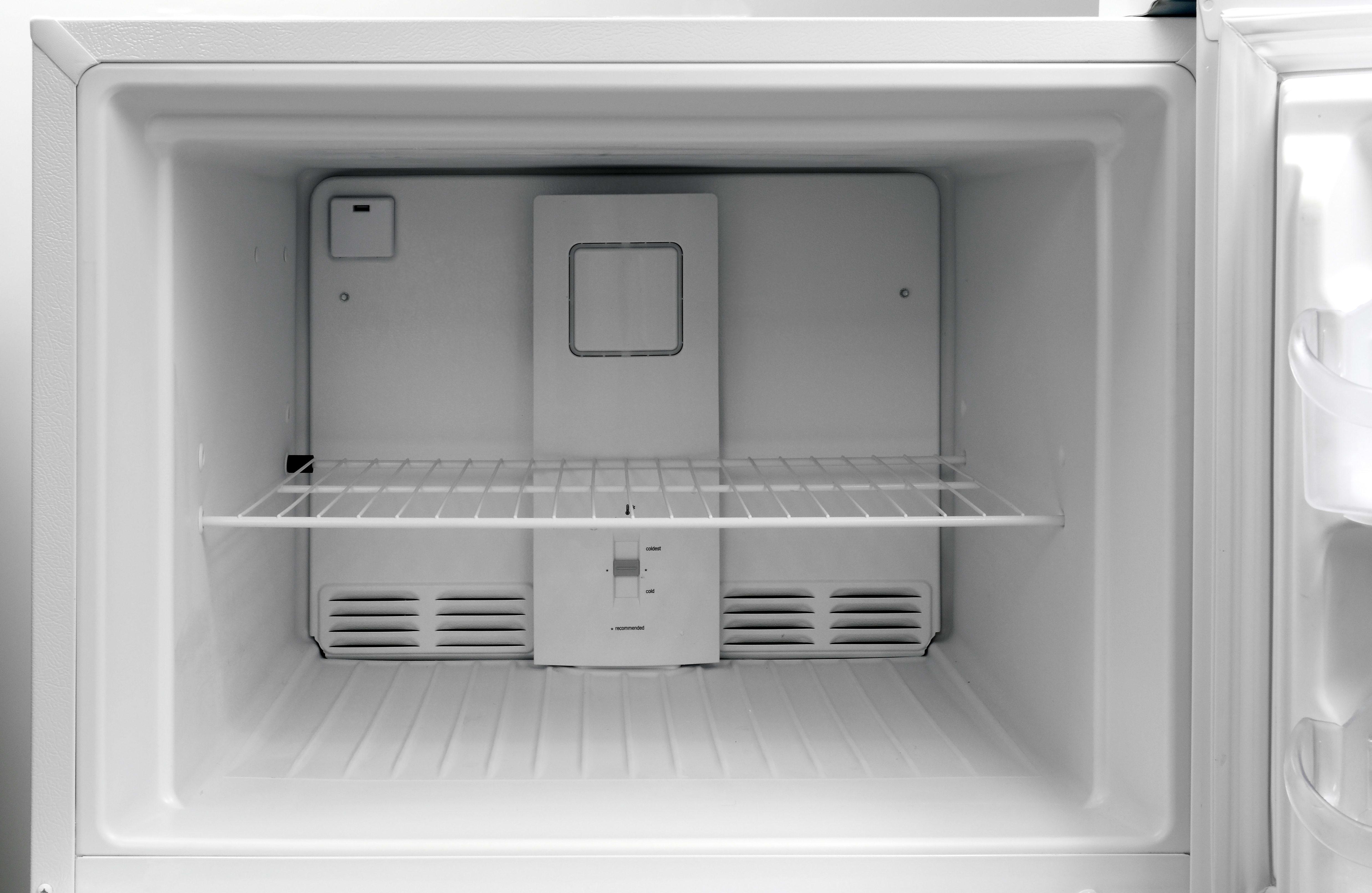 The Frigidaire FFHT2131QP's bare-bones freezer has neither an icemaker or a light.