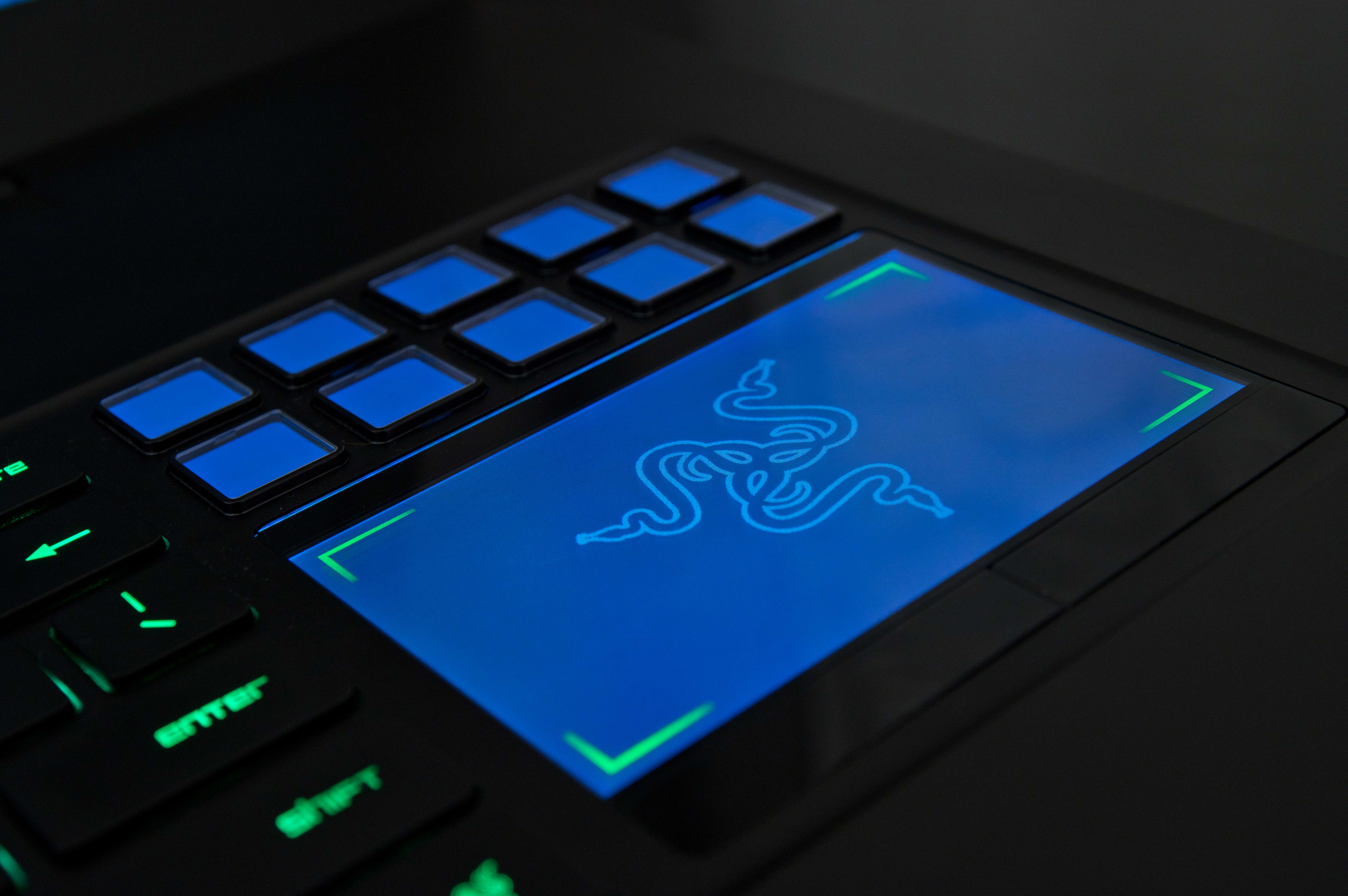 A photo of the Razer Blade Pro's touchpad.