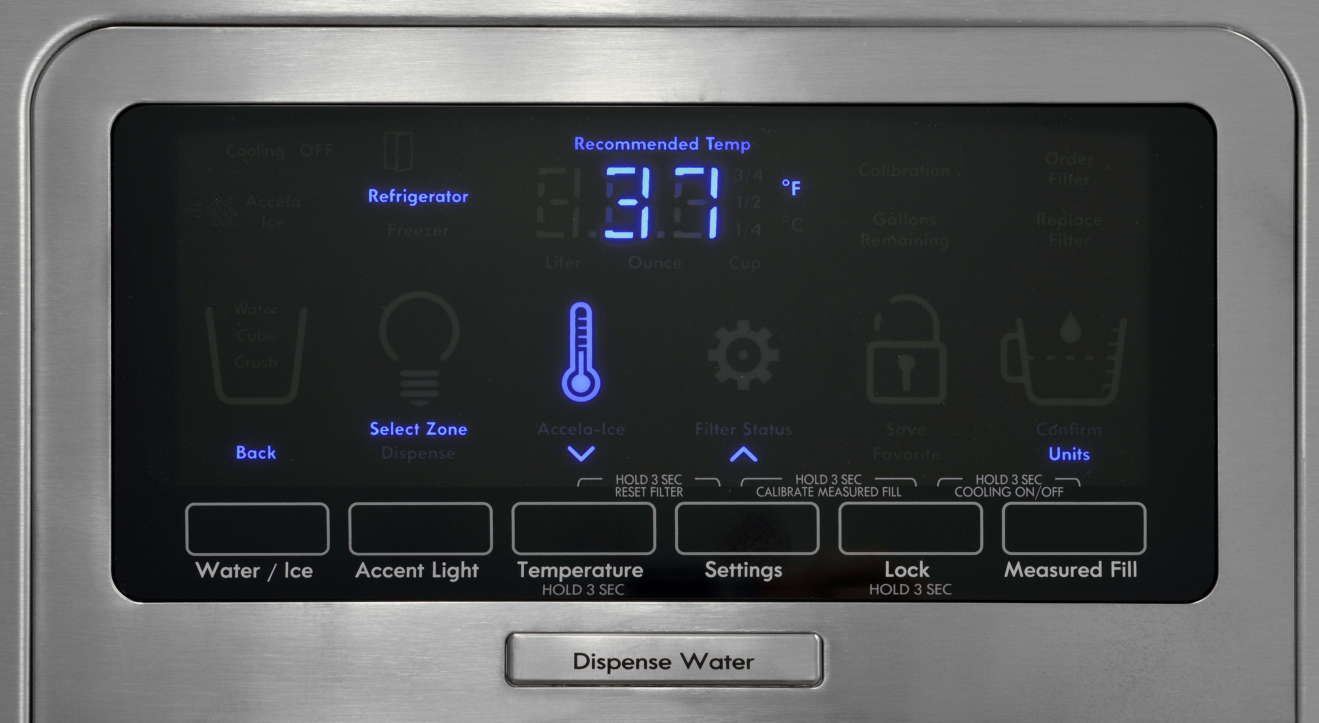 The Kenmore Elite 51773's controls are responsive, but require some digging to access all the features.