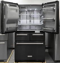 Kitchenaid Appliances Black Stainless kitchenaid krmf706ebs refrigerator review - reviewed refrigerators