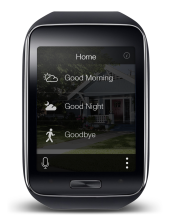 The SmartThings app for the Samsung Gear S