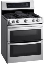 The LG LDG4315ST double oven gas range