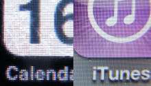 A comparison of the old iPhone screen vs. the new Retina display