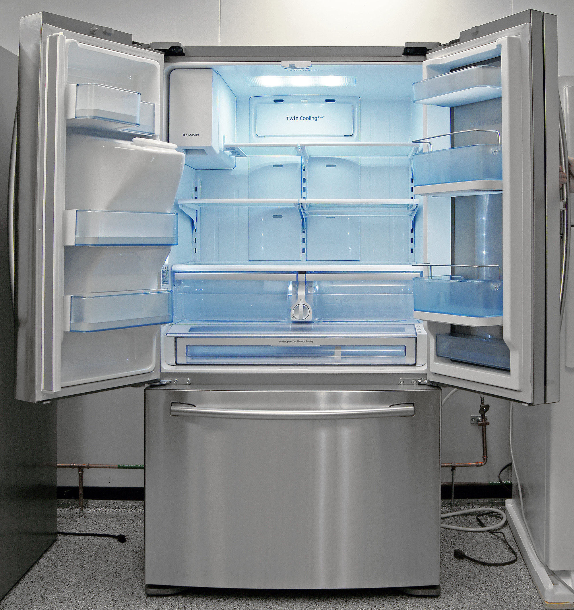 Even counter-depth fridges like the Samsung RF23HTEDBSR can be roomy enough for small families.