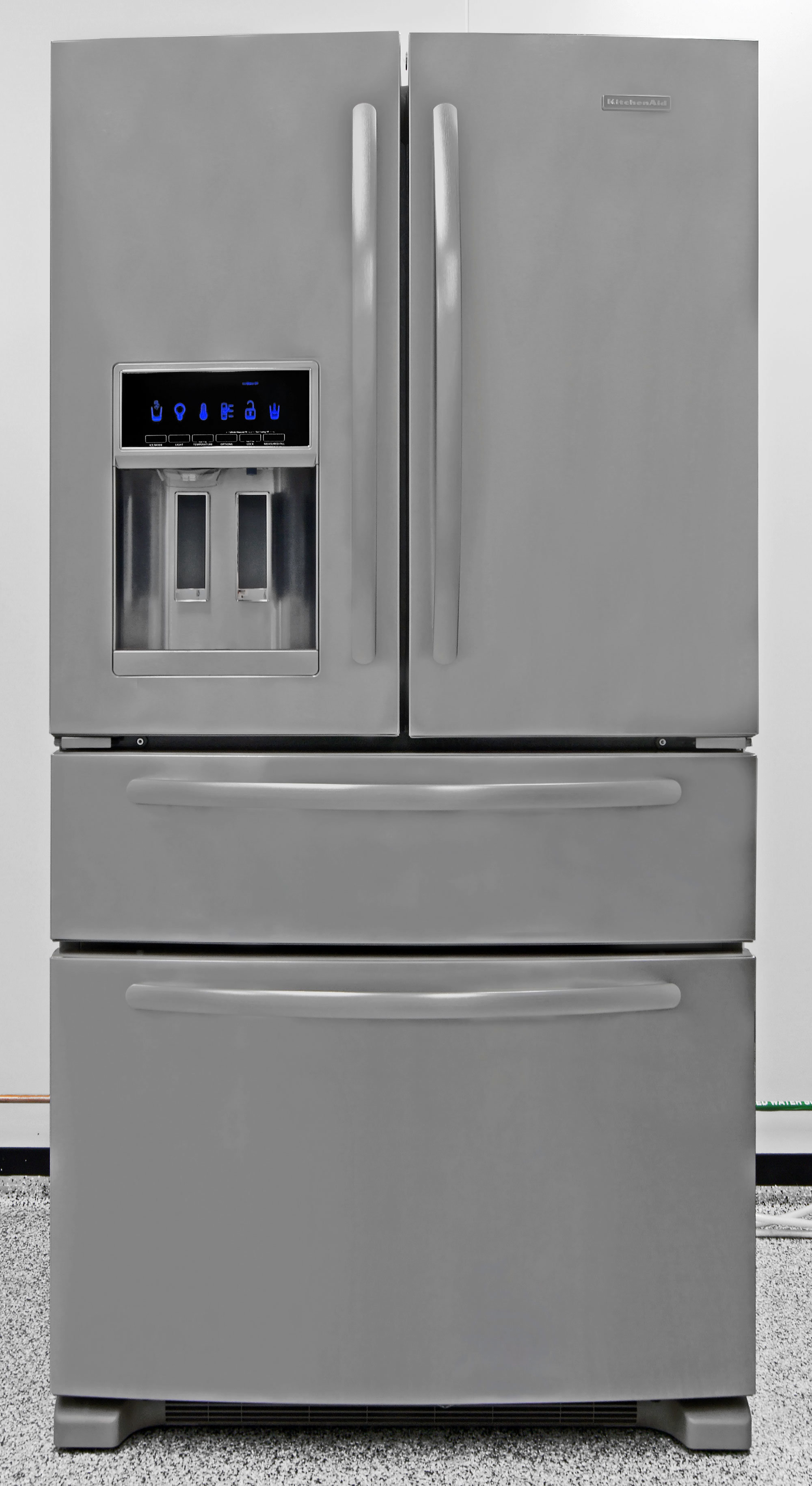 The KitchenAid KFXS25RYMS is one of the more affordable four-door fridges on the market today.