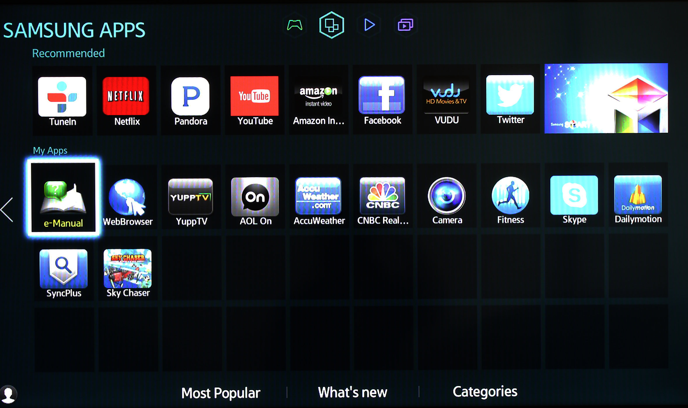 There are plenty of apps to choose from on Smart Hub.