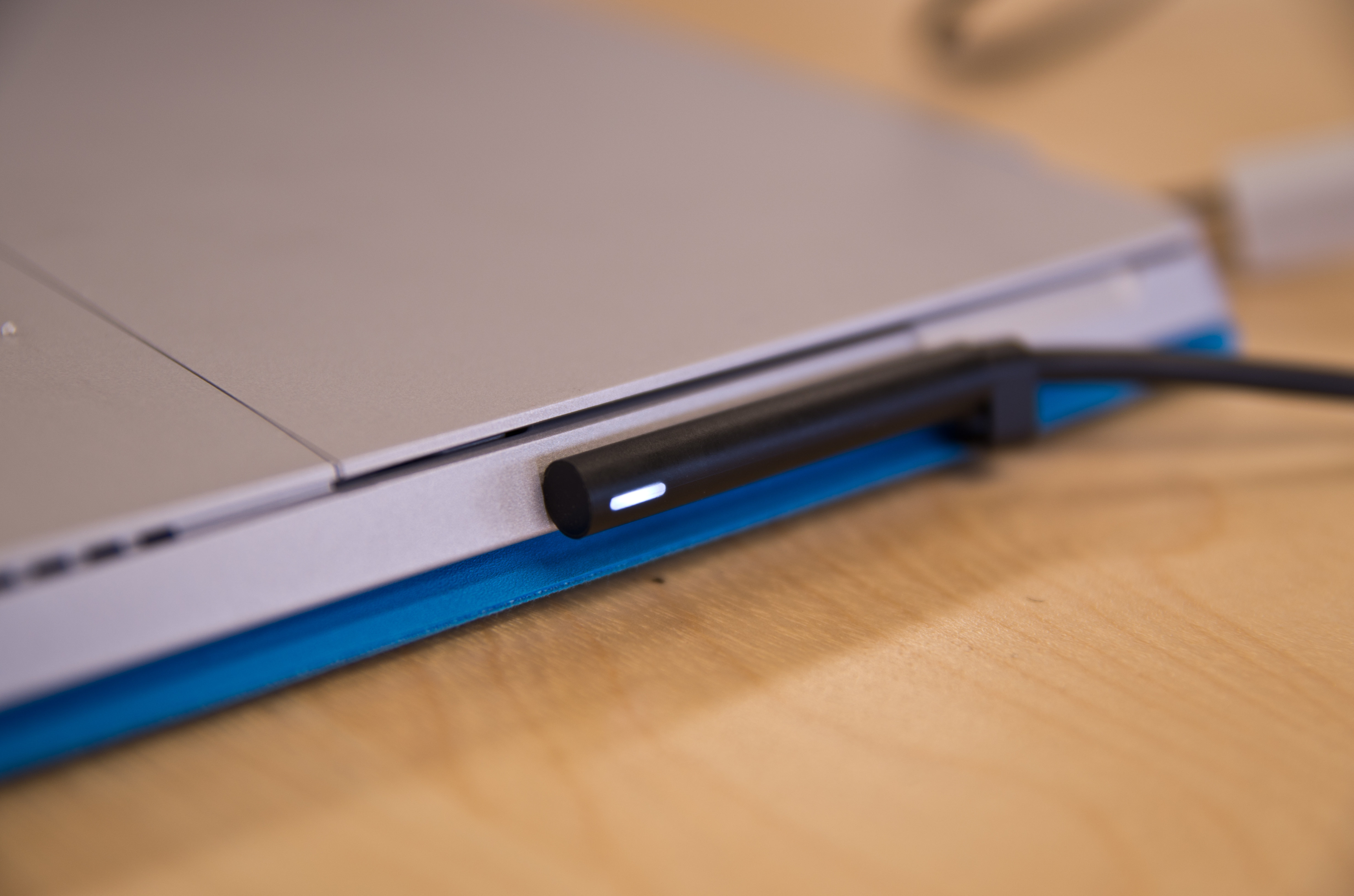 A closer look at the Microsoft Surface Pro 3's charging cable.