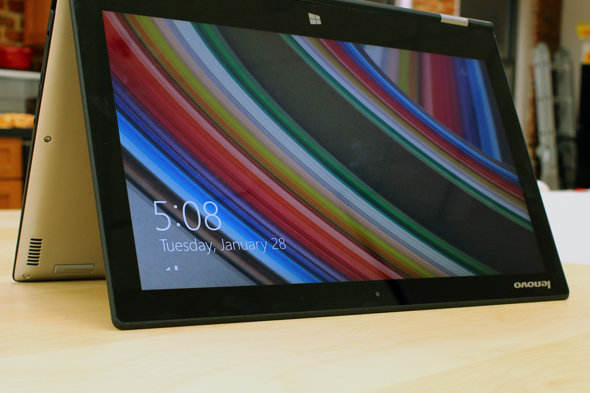 The Yoga 2 Pro in tent mode