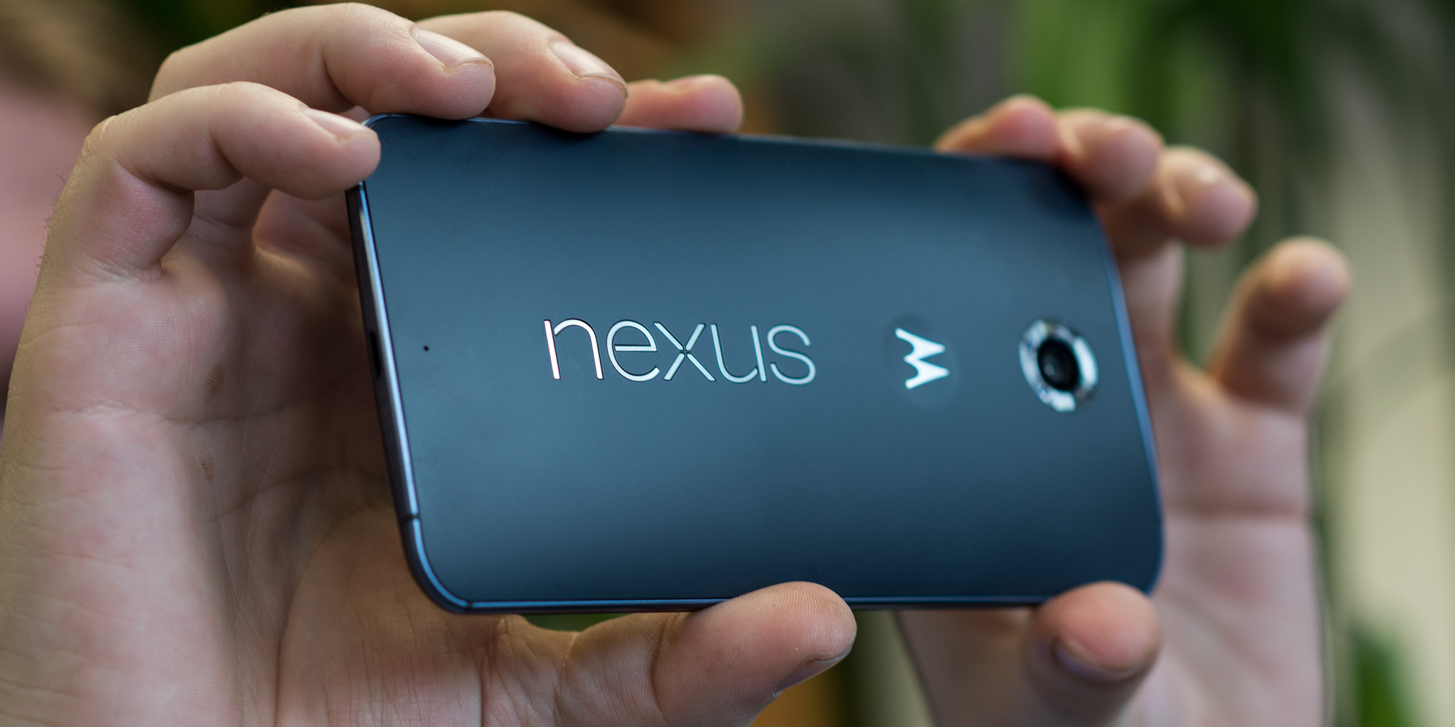 A photo of the Google Nexus 6 in use.