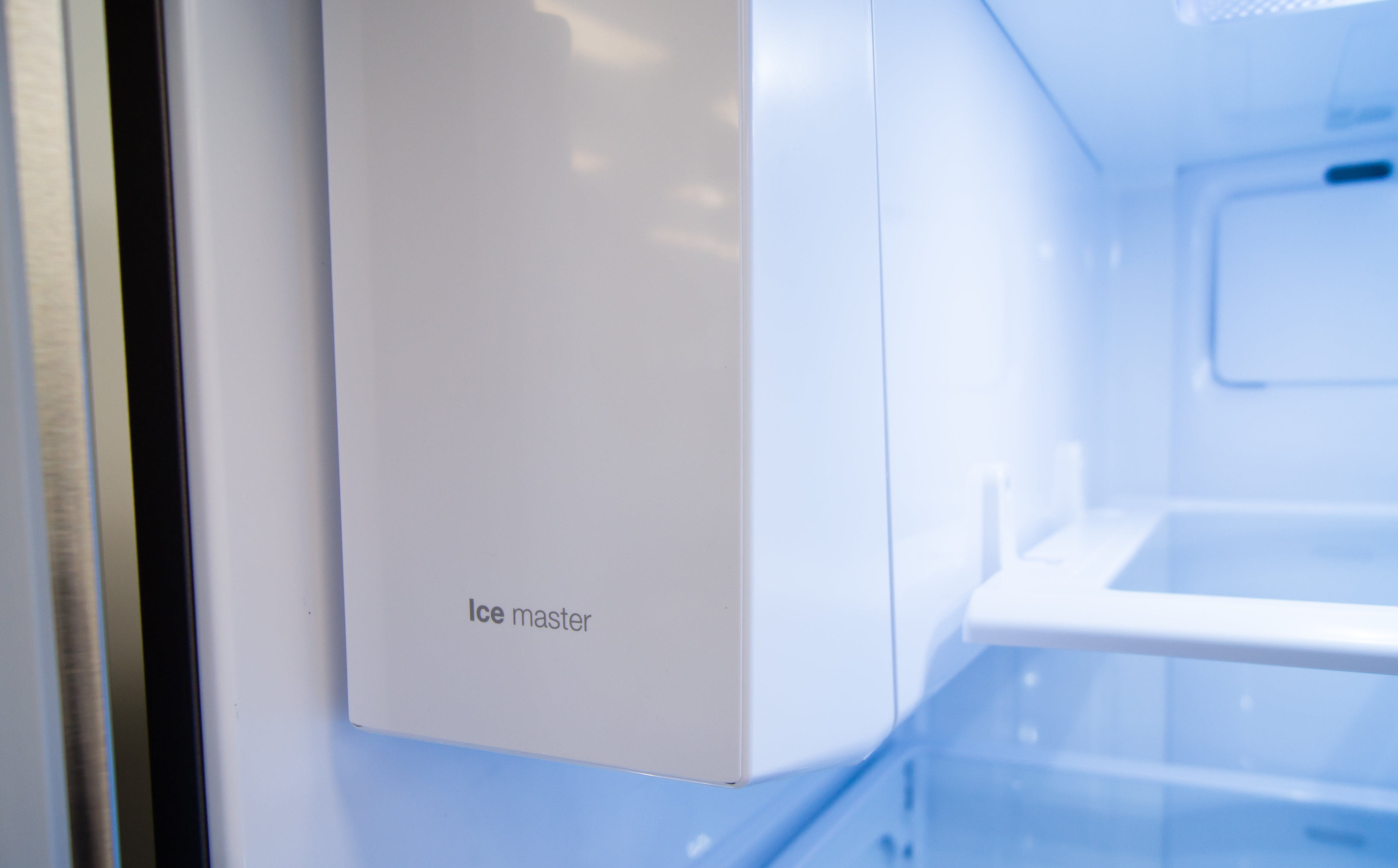 Despite the Samsung RF28HDEDBSR's high price tag, the icemaker is still found inside the main fridge compartment and is a bit cumbersome to remove.