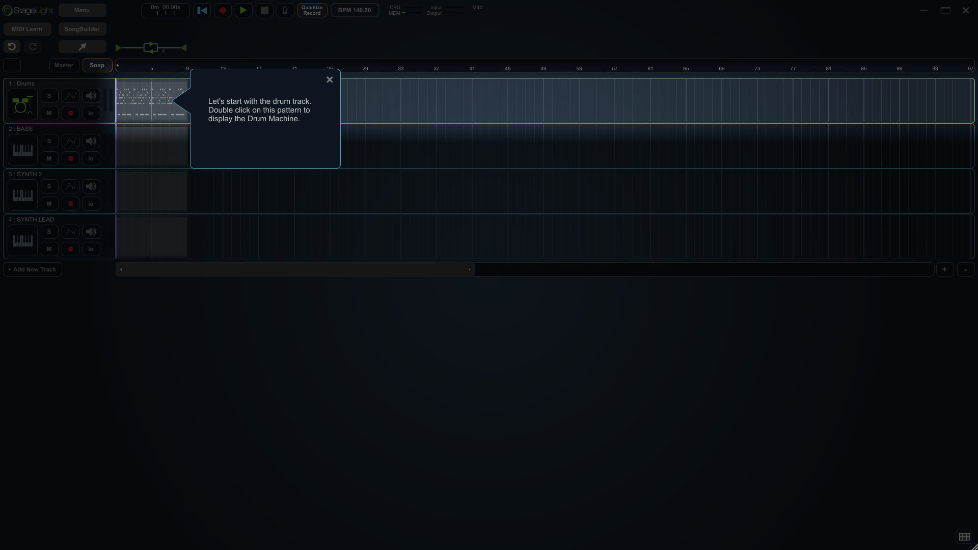 StageLight is an easy-to-learn digital audio workstation.