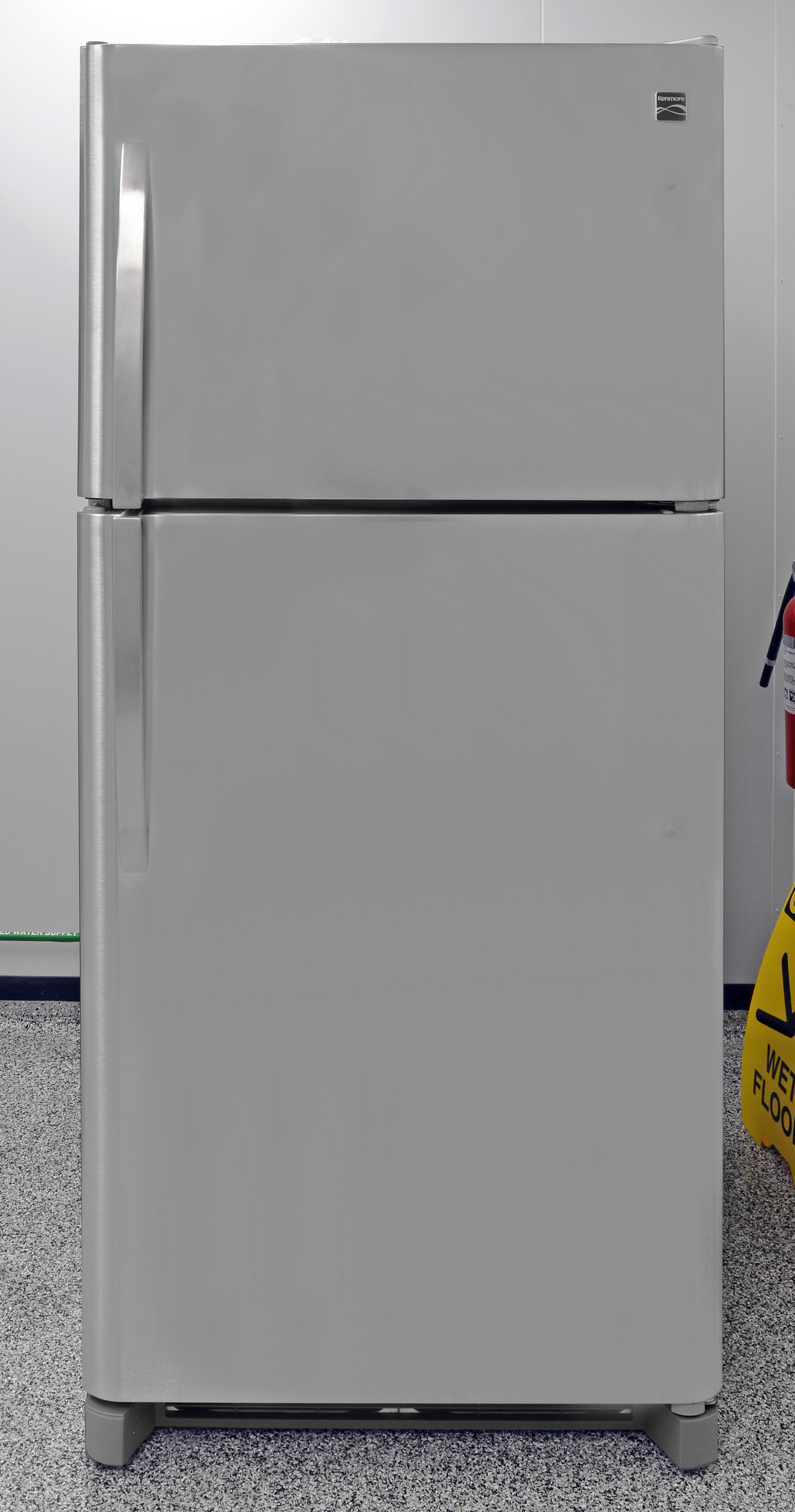 The Kenmore 70623 top freezer is built on a Frigidaire platform.