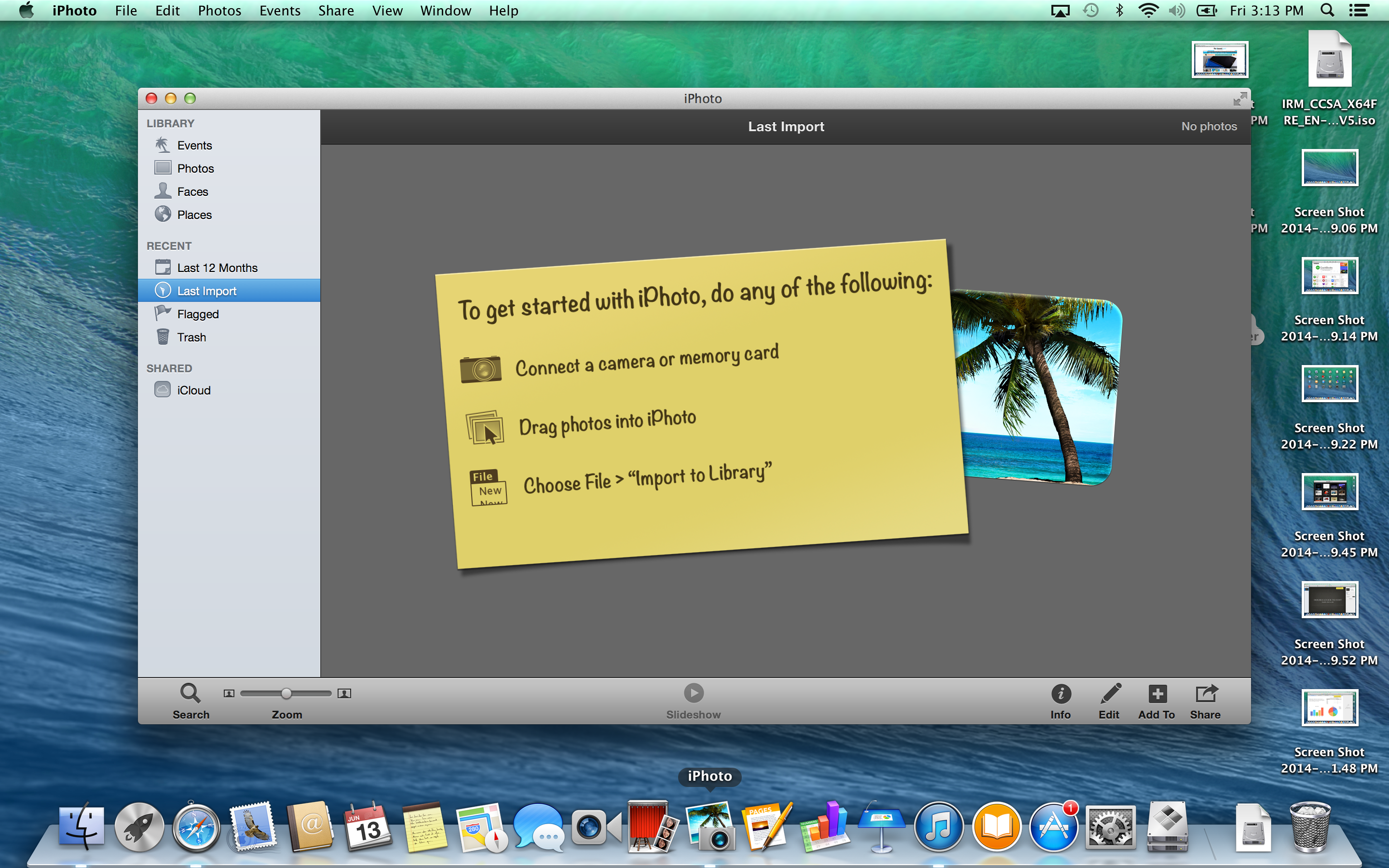 A screenshot of the Apple MacBook Pro with Retina Display's iPhoto software.