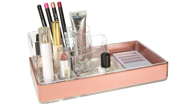 Simplify Rose Gold Makeup Holder