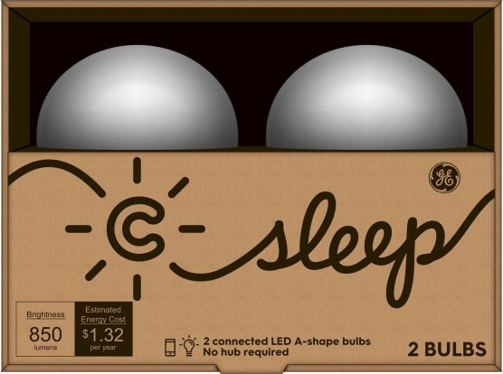 Product Image - C by GE C-Sleep LED Light Bulb, 2-Pack