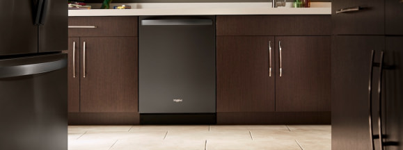 Whirlpool black stainess dishwasher