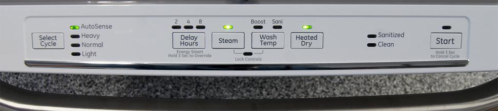 GE Artistry ADT521PGFWS—Controls