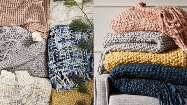 West Elm Chunky Woven Throws