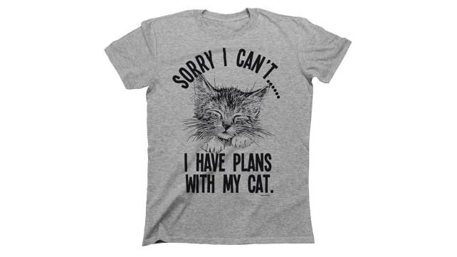 Buzz Shirts Cat Plans Shirt