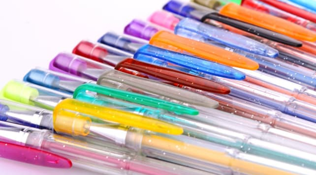 100 color gel pens for adult coloring