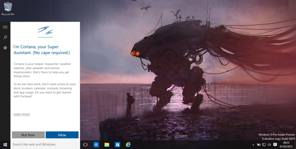 Windows 10 - Cortana