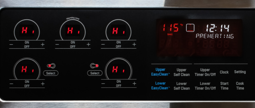 lg lde3037st electric double oven range review ovens