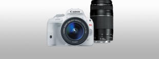 Eos rebel sl1 white bundle hero