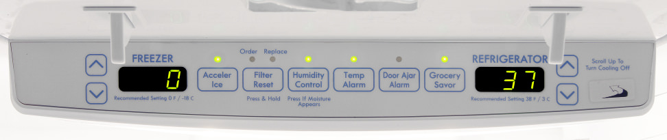 Kenmore 72013 Controls