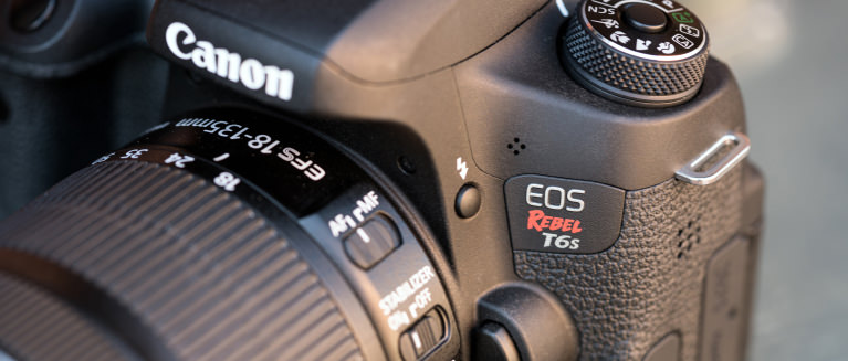 Canon rebel t6s review design hero
