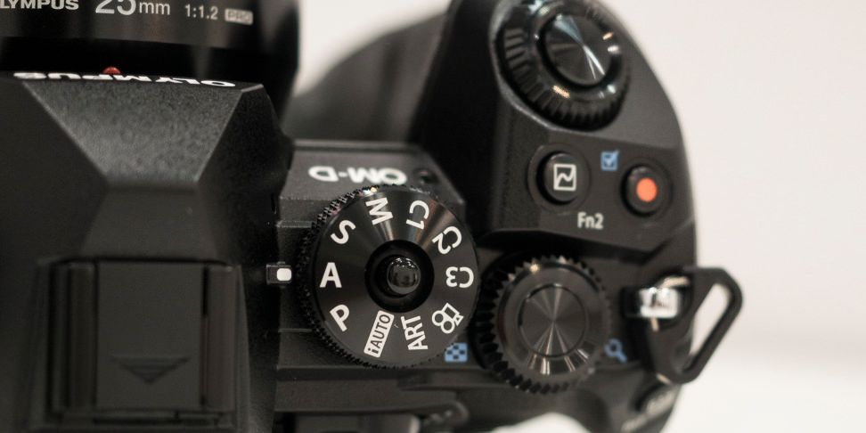 Olympus OM-D E-M1 Mark II Mode Dial Top Controls