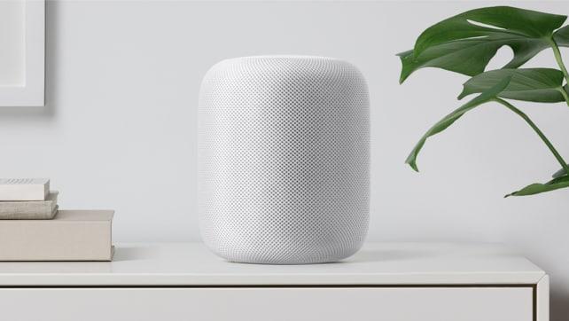 White Apple HomePod