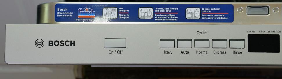 Bosch SHP65TL5UC—Left Side Controls