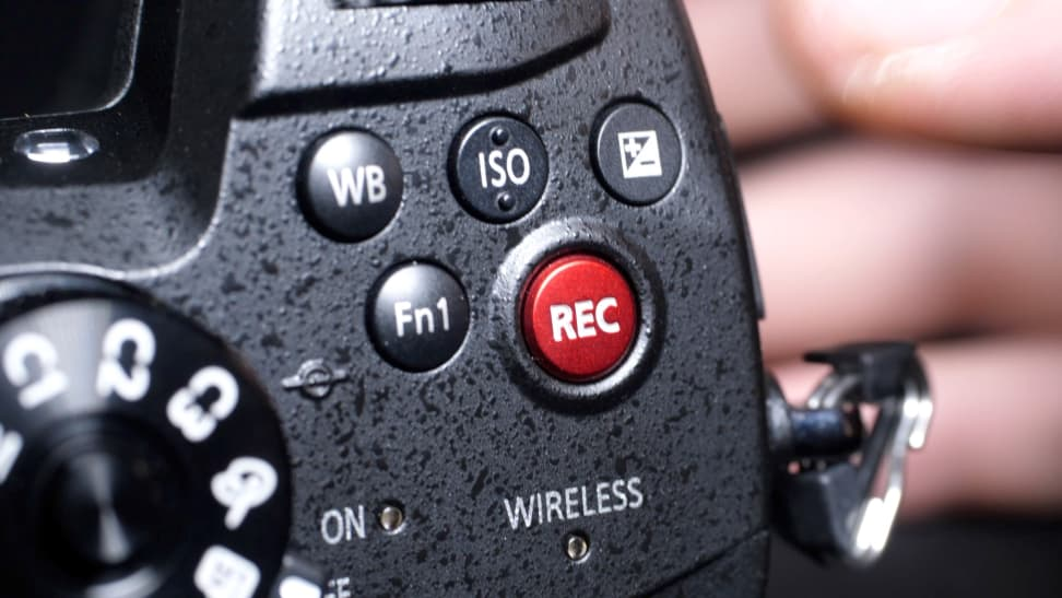 Panasonic GH5s record button