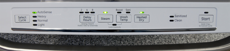 GE Artistry ADT521PGFWS—Controls