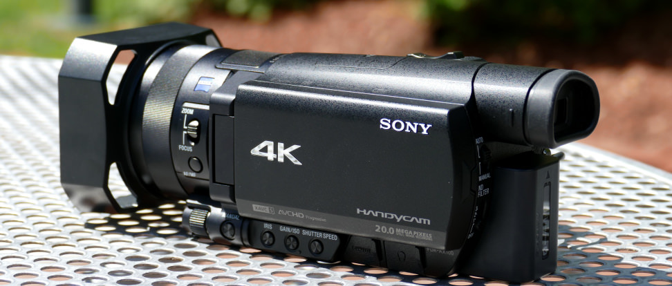sony handycam ax100 camcorder review camcorders. Black Bedroom Furniture Sets. Home Design Ideas