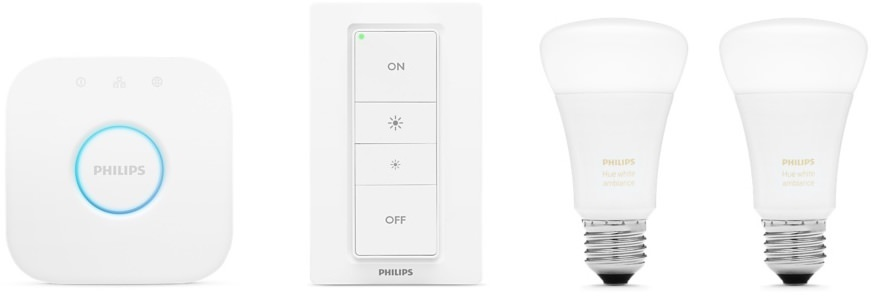 Product Image - Philips Hue White Ambiance A19 Starter Kit