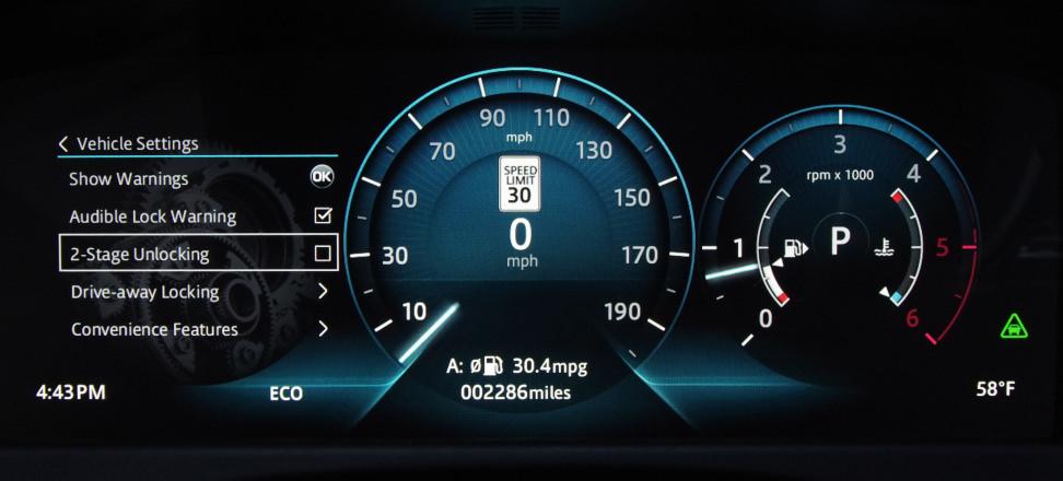 2017 Jaguar XF Diesel gauge cluster