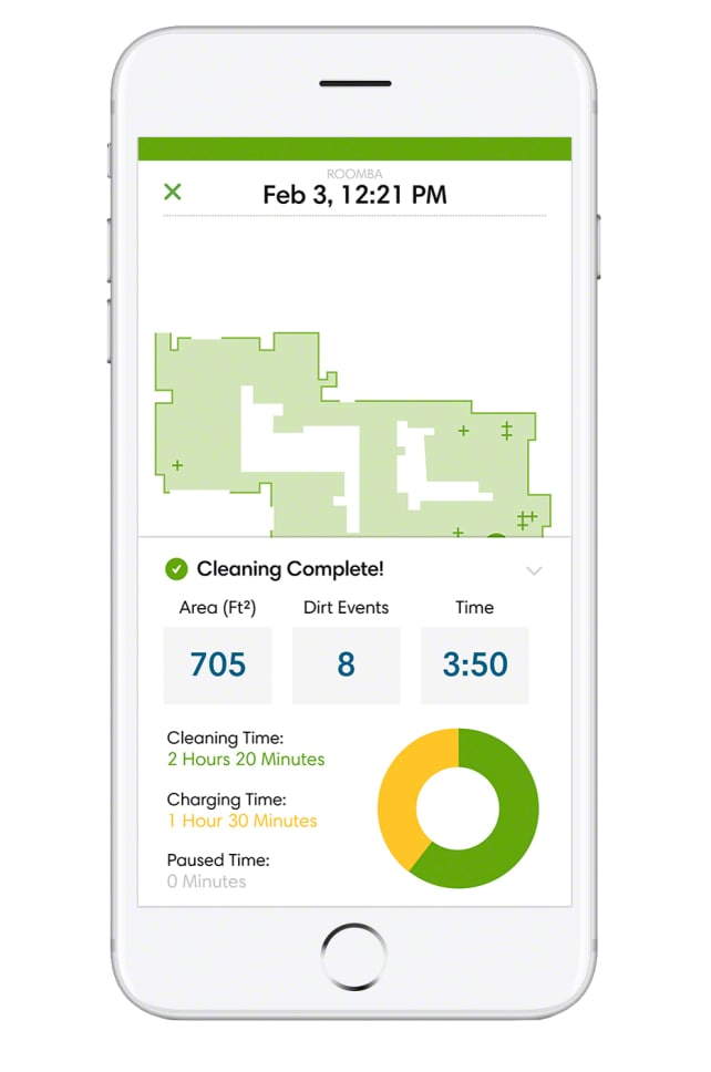 Roomba Clean Map
